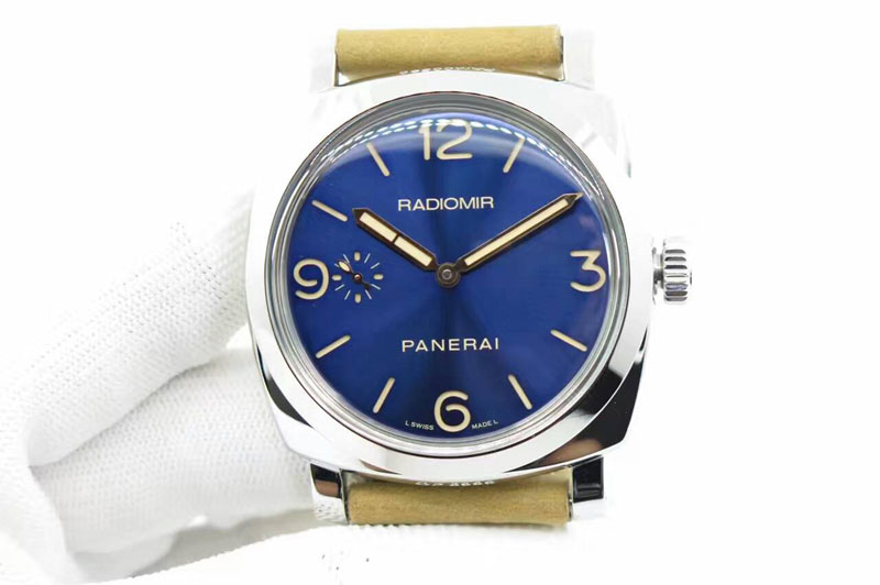 Panerai PAM 690 Q SF Best Edition Blue Dial on Thick Brown Leather Strap P.3000 Super Clone